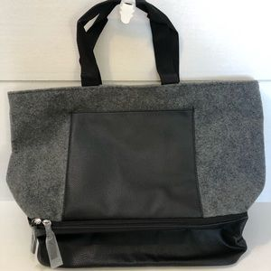 Large gray shoulder bag
